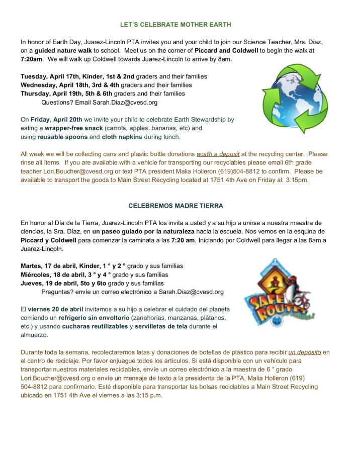 Earth Stewardship JL Nature Walk flier
